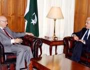 اسلام آباد، افغان سلامتی امور کے مشیر رنگین دادفر سپانتا مشیر خارجہ ..
