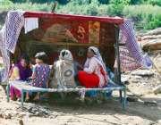 راولپنڈی، کرسچین کالونی کے رہائشی مکان سیلاب کی نذر ہونے کے بعد عارضی ..