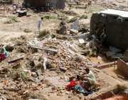 راولپنڈی، سیلاب سے متاثرہ کرسچین کالونی کے رہائشی منہدم ہونے والے ..