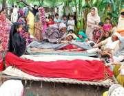 لاہور، شدید بارشوںکے بعد سبزہ زار میں مکان کی چھت گرنے سے ہلاک ہونے ..