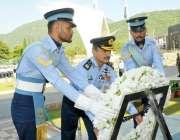 اسلامآباد، پاک فضائیہ کے سربراہ ائیر چیف مارشل طاہر رفیق بٹ شہدا ..