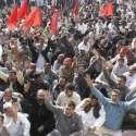 لاہور: آل پاکستان واپڈا ہائیڈرو الیکٹرک لیبر یونین کے زیر اہتمام بجلی ..