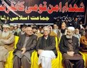 پشاور، جماعت اسلامی کے زیر اہتمام شہدا امن قومی کانفرنس کے موقع پر ..