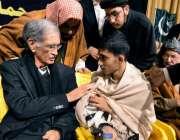 پشاور، شہدا امن کانفرنس کے موقع پر وزیراعلی خیبرپختونخوا پرویز خٹک ..