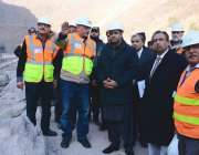 مظفر آباد، وزیر مملکت برائے پانی و بجلی عابد شیر علی نیلم جہلم ہائیڈرو ..