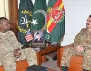 راولپنڈی، امریکی سینٹ کام کمانڈر جنرل لائیڈ آسٹن جنرل ہیڈ کوارٹرز ..