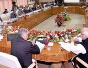 پشاور، وزیراعلی خیبرپختونخوا پرویز خٹک صوبائی کابینہ کے اجلاس کی صدارت ..