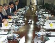 اسلامآباد، وزیر خزانہ سینیٹر اسحاق ڈار وزارت خزانہ سے متعلق اعلی ..