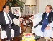 اسلام آباد، وزیراعظم نواز شریف ایوان صدر میں صدر ممنون حسین سے ملاقات ..