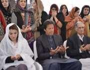 پشاور، شہدا آرمی پبلک سکول کے چہلم کے موقع پر عمران خان ، ریحام خان، ..