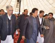 پشاور، تحریک انصاف کے چئیرمین عمران خان شہدا آرمی پبلک سکول کے چہلم ..