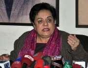 اسلامآباد، تحریک انصاف کی سیکرٹری اطلاعات شیریں رحمان پریس کانفرنس ..