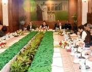 کراچی، وزیراعظم نواز شریف گورنر ہاؤس میں سندھ میں امن و امان کی صورتحال ..