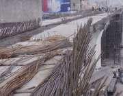 راولپنڈی، میٹرو بس پراجیکٹ کیلئے بنائے گئے ٹریک کا منظر۔