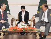 اسلامآباد، صدر مملکت ممنون حسین سے چینی وزیر خارجہ وانگ ژی ملاقات ..
