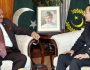 اسلامآباد، چینی سفیر سن وائی ڈونگ ایوان صدر میں صدر مملکت ممنون حسین ..