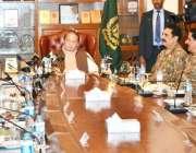 کوئٹہ، وزیراعظم نواز شریف بلوچستان ایپکس کمیٹی کے اجلاس کی صدارت کر ..