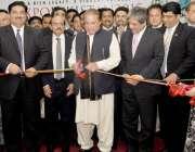 کراچی، وزیراعظم نواز شریف 9 ویں ایکسپو پاکستان نمائش کا افتتاح کر رہے ..