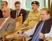 اسلام آباد، وزیراعظم نواز شریف پارلیمانی پارٹیوں کے رہنماؤں کے اجلاس ..
