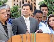 کراچی، سندھ اسمبلی میں قائد حزب اختلاف شہریار مہر اسمبلی اجلاس کے بعد ..