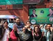 لاہور، الیکشن ٹریبونل میں حلقہ این اے 122 دھاندلی کیس کی سماعت کے موقع ..