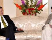 اسلامآباد، وزیر داخلہ چوہدری نثار علی خان سے امریکی سفیر رچرڈ اولسن ..
