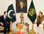 اسلامآباد، چینی سفیر سن وائی ڈونگ وزیراعظم نواز شریف سے ملاقات کر ..