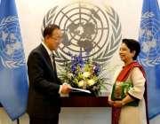 نیویارک، اقوام متحدہ میں مستقل پاکستانی مندوب ملیحہ لودھی سیکرٹری ..