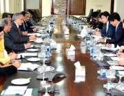 اسلامآباد، وزیر خزانہ سینیٹر اسحاق ڈار جاپانی اعلی سطحی سرکاری وفد ..