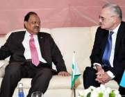 باکو، صدر ممنون حسین آذربائیجان کے وزیراعظم آرٹر رسیذادے سے ملاقات ..