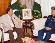 اسلام آباد، صدر مملکت ممنون حسین سے سبکدوش ہونے والے چیف آف ائیر سٹاف ..