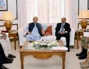 کراچی، وزیراعظم نواز شریف کراچی کے حالات بارے اعلی سطحی اجلاس کی صدارت ..