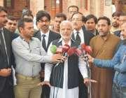 لاہور: تحریک انصاف پنجاب کے صدر اعجاز احمد چوہدری لاہور ہائیکورٹ کے ..