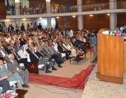 لاہور: وفاقی وزیر پانی و بجلی اور دفاع خواجہ محمد آصف واپڈا ہاؤس میں ..
