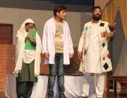 کراچی: اسٹیج اداکار اسٹیج پر اداکاری کر رہے ہیں۔