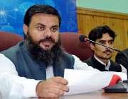 پشاور: حاجی منظور خلیل قومی وطن پارٹی سے لاتعلقی کے بعد پریس کانفرنس ..