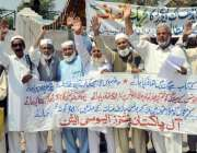 پشاور: آل پاکستان پینشنرز ایسوسی ایشن کے زیراہتمام مطالبات کے حق میں ..