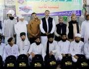 لاہور: جامعہ نعیمیہ میں تقریب پذیرائی برعطائیگی لیب ٹاپ کے موقع پر ..