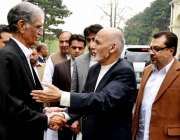 کابل: افغان صدر اشرف غنی ، وزیر اعلیٰ خیبر پختونخواپرویز خٹک کا استقبال ..