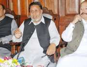 لاہور: اپوزیشن لیڈر میاں محمود الرشید پنجاب اسمبلی کیفے ٹیریاں میں ..