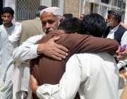 کوئٹہ: سریاب روڈ پر فائرنگ سے جاں بحق اور زخمی ہونے والے افراد کے لواحقین ..