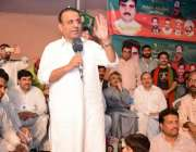 لاہور: کینٹ وارڈ نمبر 1 میں پی ٹی آئی کے امیدوار محمد علی خان کے جلسے ..