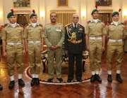 کاکول: افغان نیشنل آرمی کے چیف آف جنرل سٹاف جنرل شیر محمد کریمی کا زیر ..