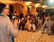 راولپنڈی:پی ٹی آئی کینٹ وارڈ 6کے امیدوار طاہر عباس راجہ کارنر میٹنگ ..