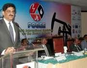 کراچی: ایکسپو سینٹر میں 13ویں بین الاقوامی آئل گیس پوگی 2015نمائش سے وزیر ..