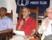 کراچی: پریس کلب میں ڈاکٹر اے ایچ نئیر نیو کلئیر پاور پلانٹ کے حوالے ..