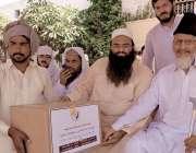 حافظ آباد: اہلحدیث یوتھ فورس پنجاب کے صدر حافظ عمران تبسم مستحقین میں ..