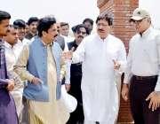 لاہور: صوبائی وزیر محنت راجہ اشفاق سرور ایم پی اے سیف الملوک کھوکھر ..