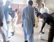 راولپنڈی: آصف علی زرداری کی پیشی کے موقع پر پولیس اہلکار کچہری میں داخل ..