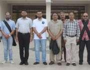 لاہور: ڈائریکٹر جنرل سپورٹس پنجاب عثمان انور کے ساتھ بحرین کے سپورٹس ..